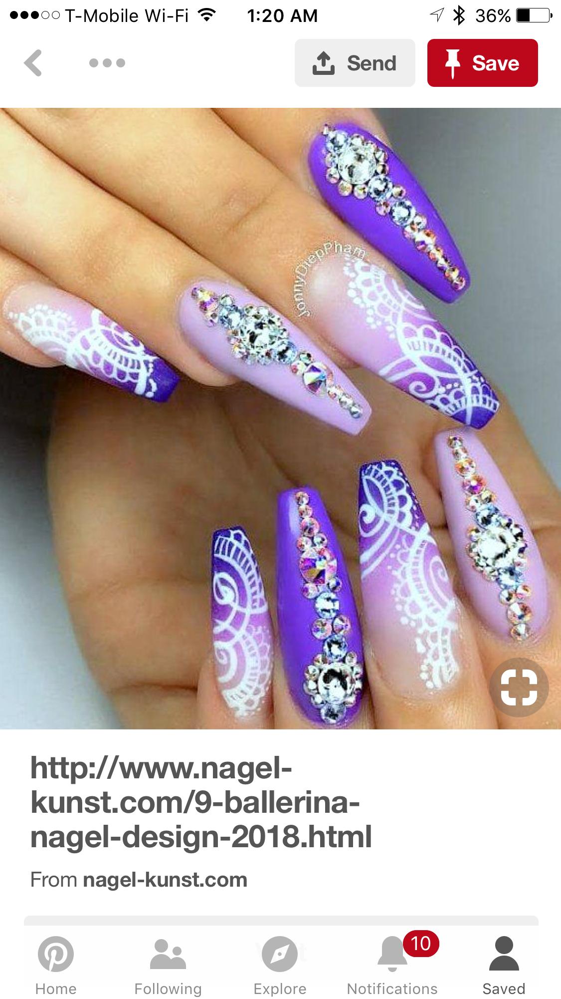 Stylish Shades For Ballerina Nails | NailDesignsJournal