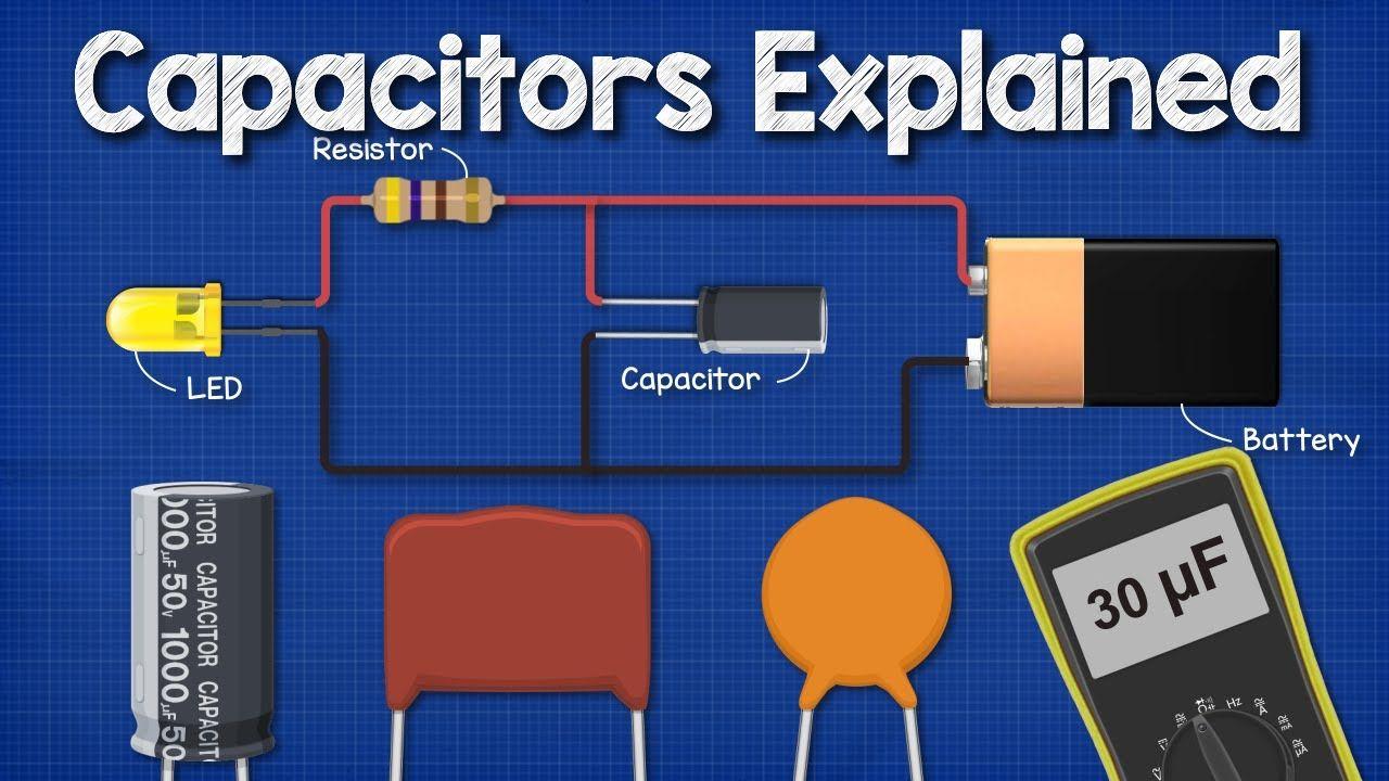 Capacitors Explained The Basics How Capacitors Work Working Principle Youtube Capacitors Electronics Basics Electrical Engineering Books