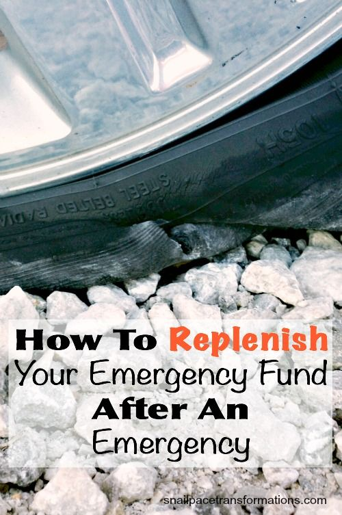 7 ways to replenish your emergency fund after you have had an emergency.