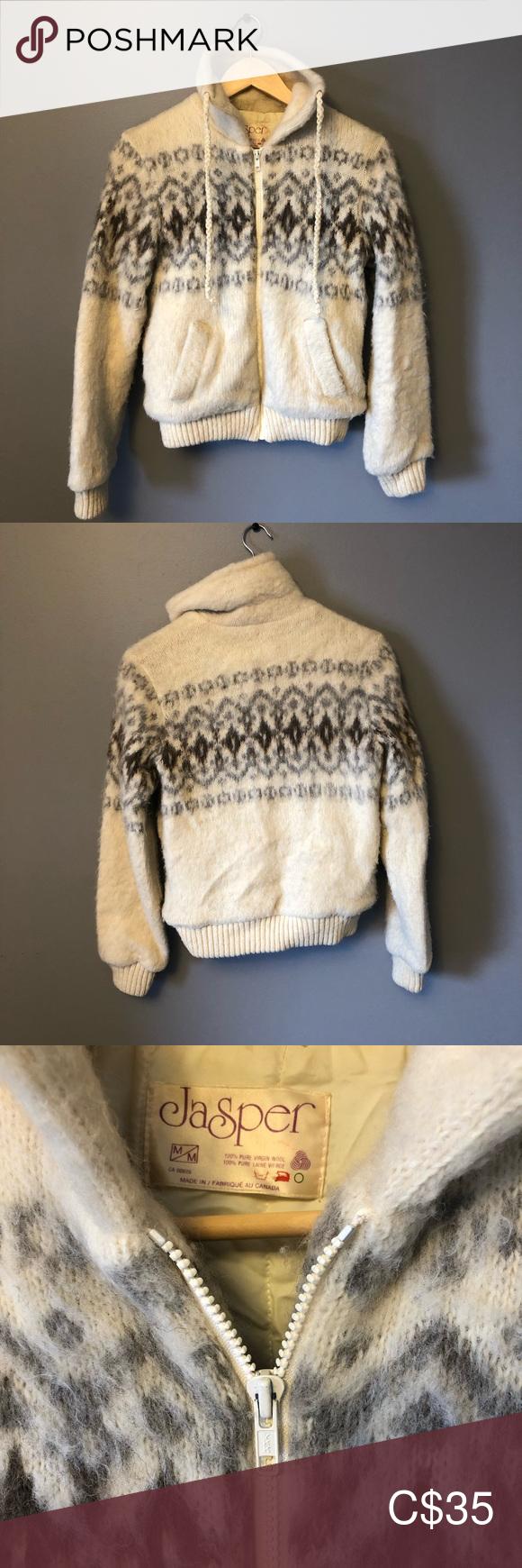 Vintage Virgin Wool Sweater Icelandic Wool sweaters