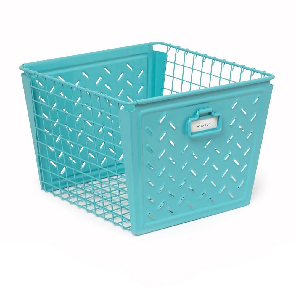 Macklin Large Metal Basket in Teal (Blue) | Large baskets and Products