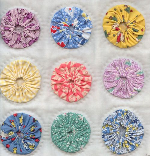 Yo yo quilt with backing quilts and quilting pinterest for Yo yo patterns crafts