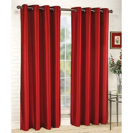 Home Red Curtains Grommet Panels Green Curtains