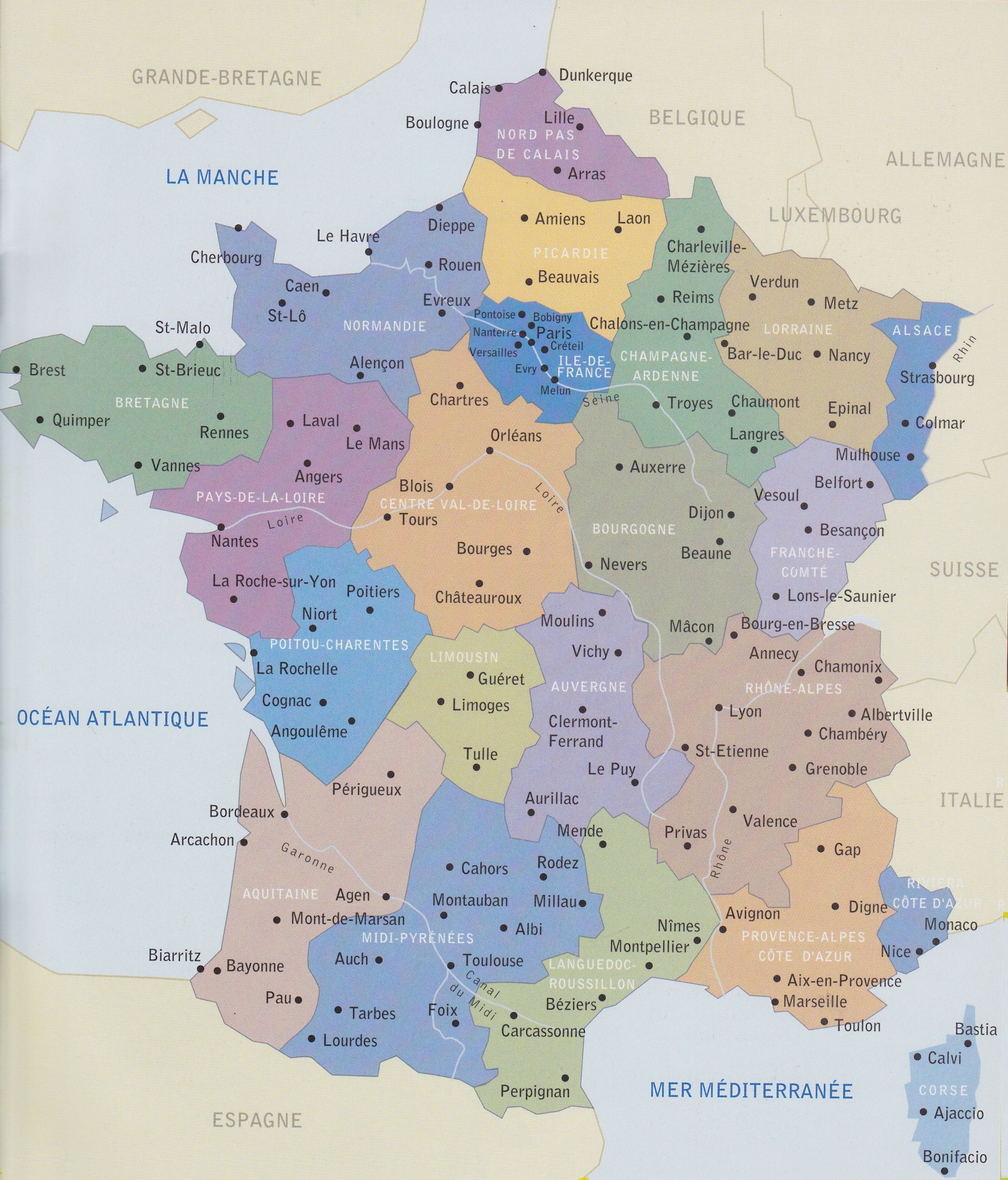 Carte De France With Images Map Au Pair France