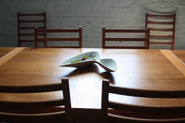 Seductive Danish Modern Teak Retractable Leaf Dining Table (Denmark, 1970's) | Flickr - Photo Sharing!