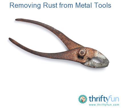 removing rust from metal tools diy ideas how to remove rust metal tools diy cleaning products. Black Bedroom Furniture Sets. Home Design Ideas