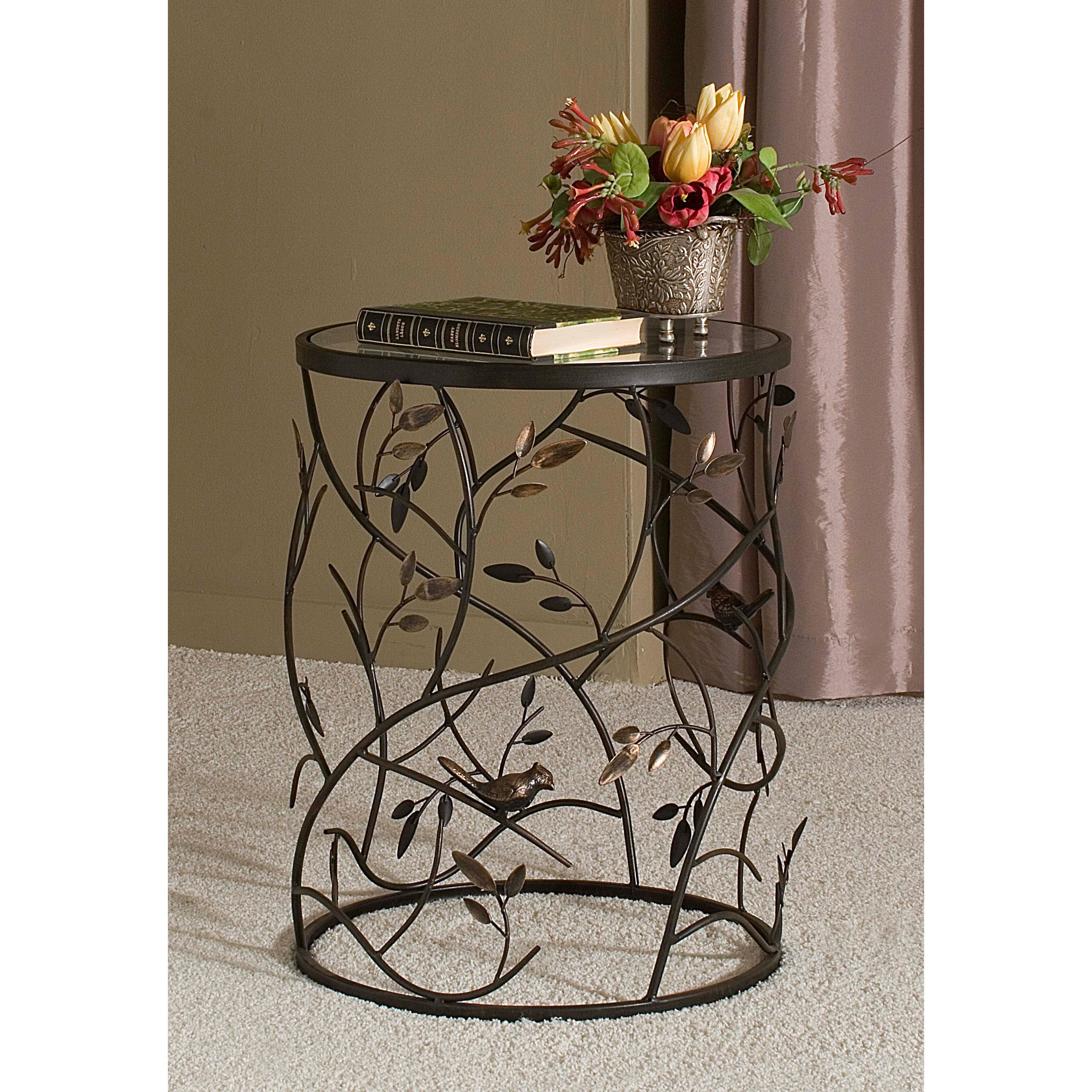InnerSpace Luxury Products Large Barrel Table With Leaves   Bird Barrel  Table