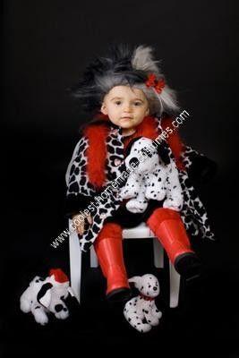 coolest homemade cruella deville child halloween costume idea - Cruella Deville Halloween Costume Ideas