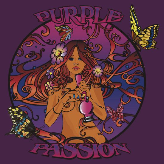 Purple Passion Fitted Scoop T-Shirt