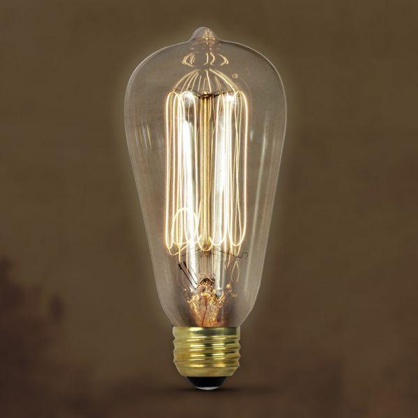 Vintage Style Antique Edison 40w Watt 120v Volt Clear Bulb Lamp With E26 Medium Screw Base Average Bulb Life 1 Antique Light Bulbs Incandescent Bulbs Bulb