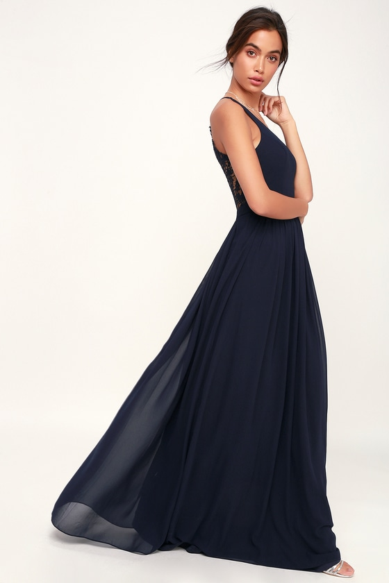Love Spell Navy Blue Lace Back Maxi Dress Blue Lace Maxi Dress Royal Blue Maxi Dress Maxi Dress Blue