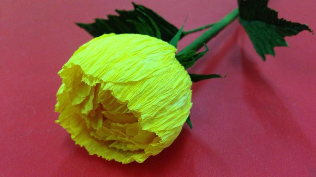 How to make crepe paper flowers flower making of crepe paper