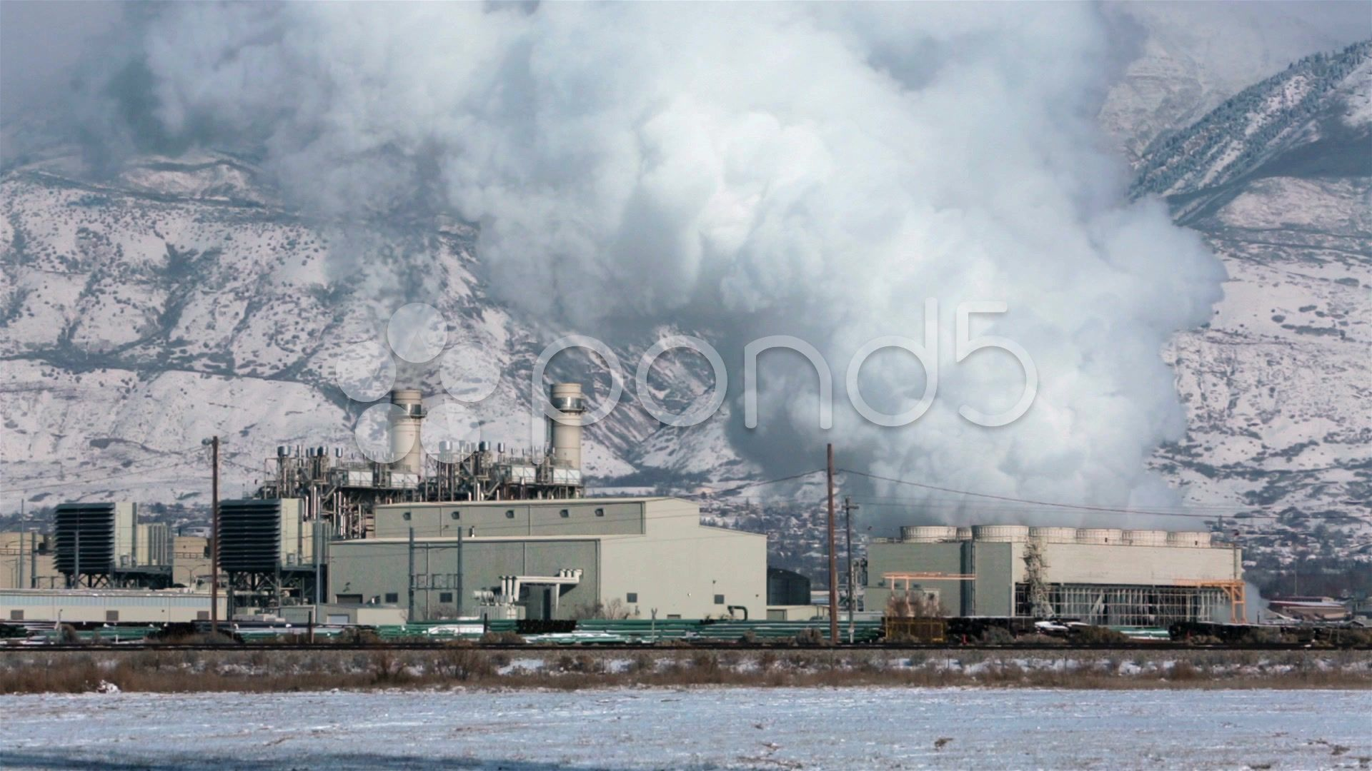 Natural Gas Electricity Power Plant Steam Smoke Hd 0191 Stock Footage Ad Power Plant Electricity Natural Power Plant Gas Gas Turbine