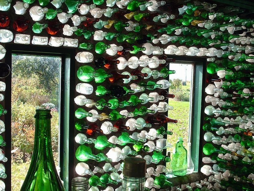 ехать декоративные поделки из стеклянных бутылок фото подоконники акрила можно