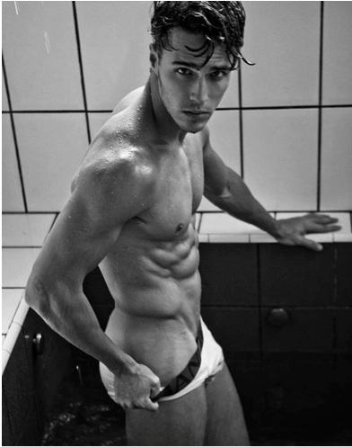 Taking off his underwear