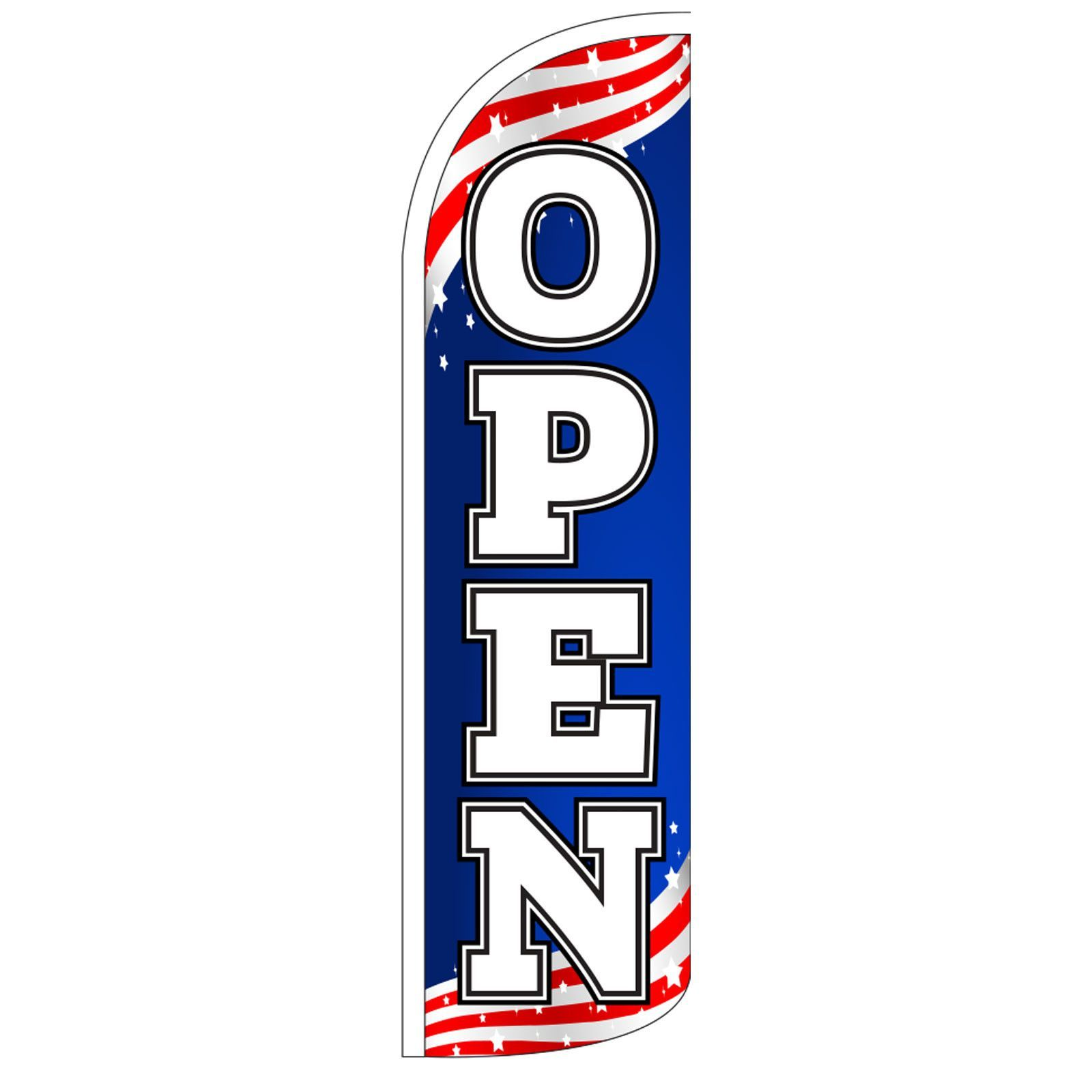 Open Patriotic 2-Sided Swooper Flag