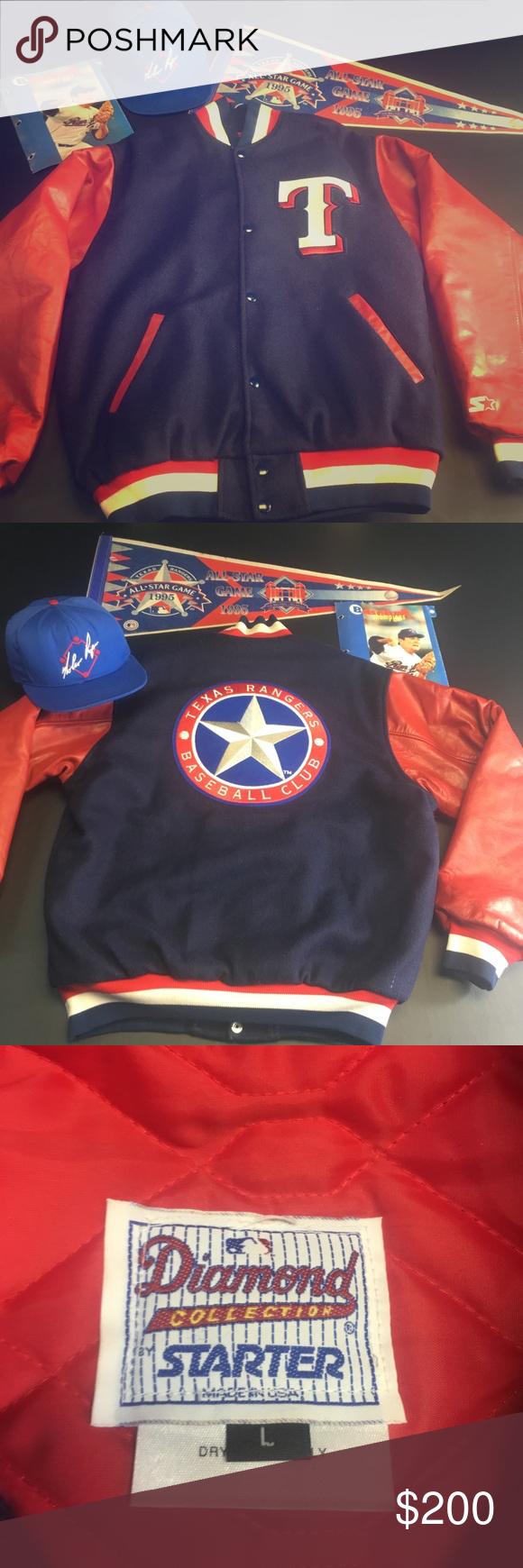 Vintage Texas Rangers Starter Letterman Jacket Gently Worn Vintage 90 S Mens Large Texas Rangers Starter Letterman Bomber Letterman Jacket Jackets Logo Sewing
