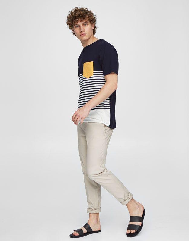 c845b576d9 Pull Bear - homem - vestuário - blusas - manga curta - t-shirt às riscas