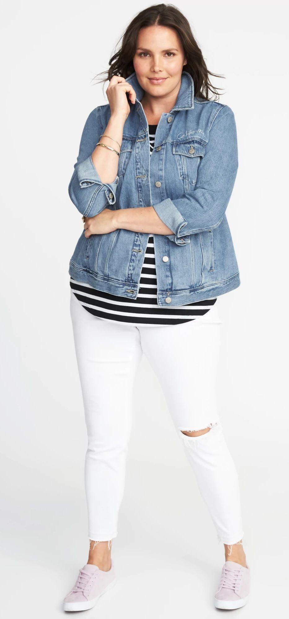 Plus Size Denim Jacket Plussize Plus Size Outfits Plus Size Fashion Plus Size Fashion For Women [ 1998 x 933 Pixel ]