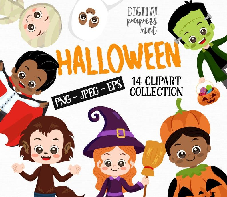 Halloween Clipart Halloween Birthday Party Png Clipart Eps Etsy Halloween Kids Birthday Halloween Party Halloween Clipart
