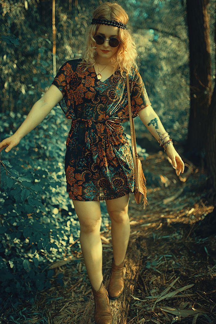 Hippie spitzenkleid