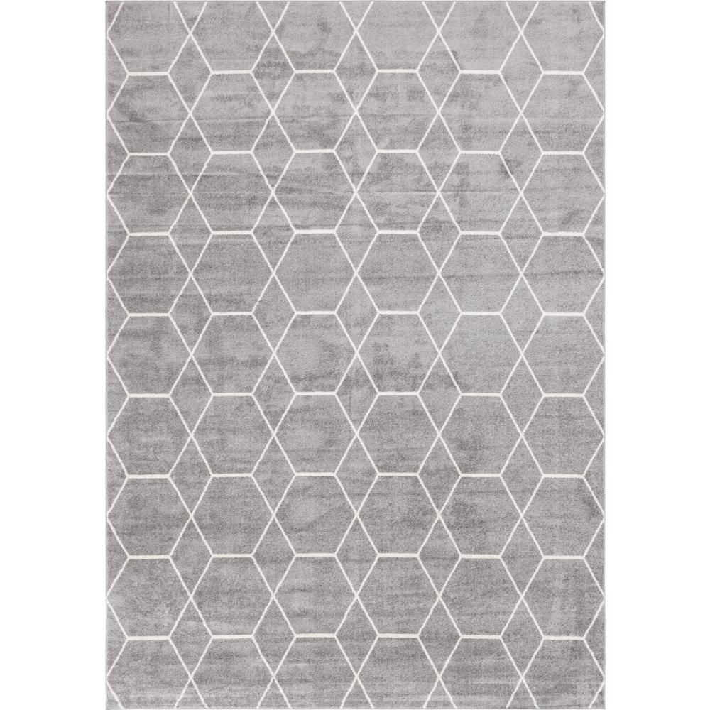 Stylewell Trellis Frieze Light Gray Ivory Gray 10 Ft X 14 Ft Geometric Area Rug Area Rugs Rugs Area Rug Sizes