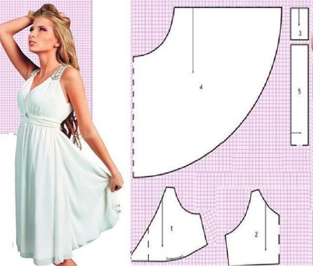Vestido casual corte cleopatra con moldes | ROPA | Pinterest