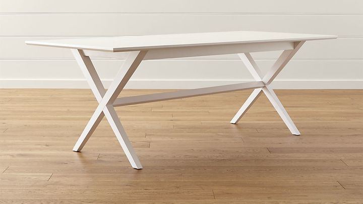 Crate & Barrel Spotlight White Dining Table | Wohnzimmer