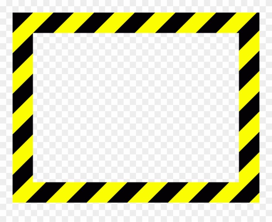 Download Hd Caution Frame Clipart Barricade Tape Clip Art Yellow And Black Frame Stripes Png Transparent Png And Use The Frame Clipart Clip Art Free Clip Art