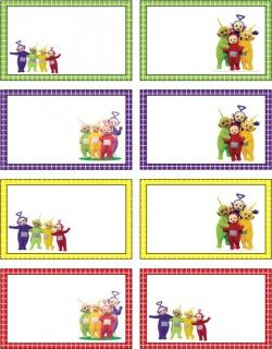 Teletubbies Gift Tags Gift Tags Party Invitations Kids