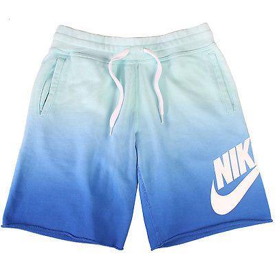 507039567975 Nike Aw77 Alumni Fade Short Mens 642905-370 Artisan Teal Shorts Activewear  Sz S