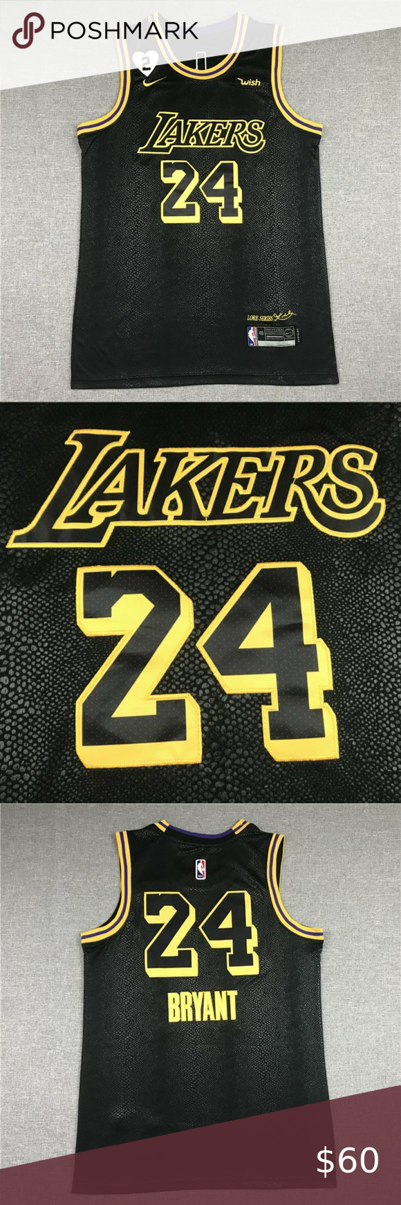 Kobe Jersey City Edition Commemorative Black Mamba 1、Brand New ...