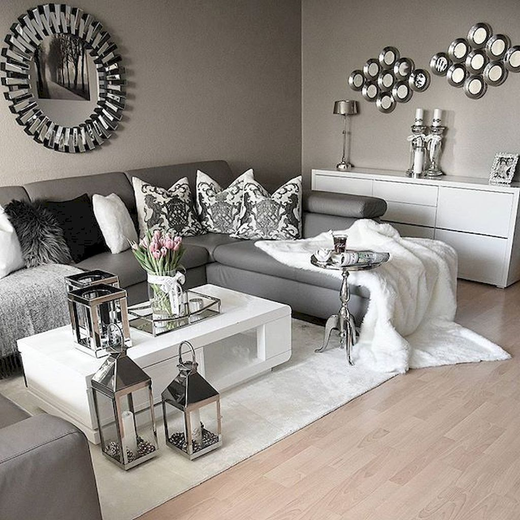 Living Room Decor Gray, Silver And White Living Room Ideas