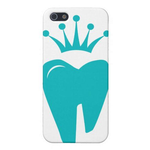 Dentist iPhone Cover Cute Tooth Crown Logo Blue