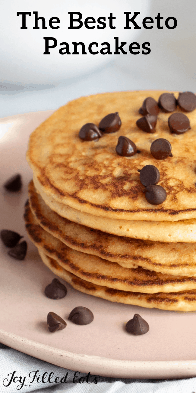 Almond Flour Pancakes with Chocolate Chips - Keto Low Carb Gluten-Free