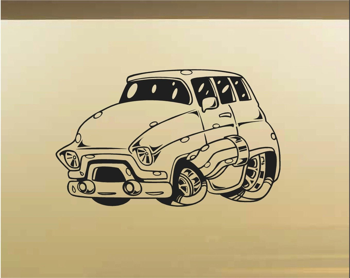 Chevy Panel Car Wall Decal - Auto Wall Mural - Vinyl Stickers - Boys ...