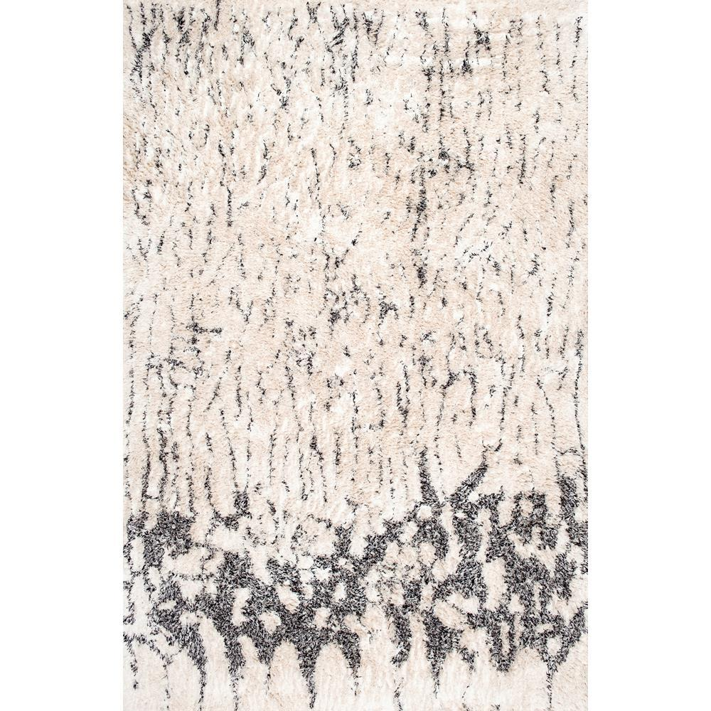 Nuloom Milda Cotton Abstract Shag Ivory 8 Ft X 10 Ft Area Rug Rfek02a 76096 Area Rugs Rugs Area Rug Sizes
