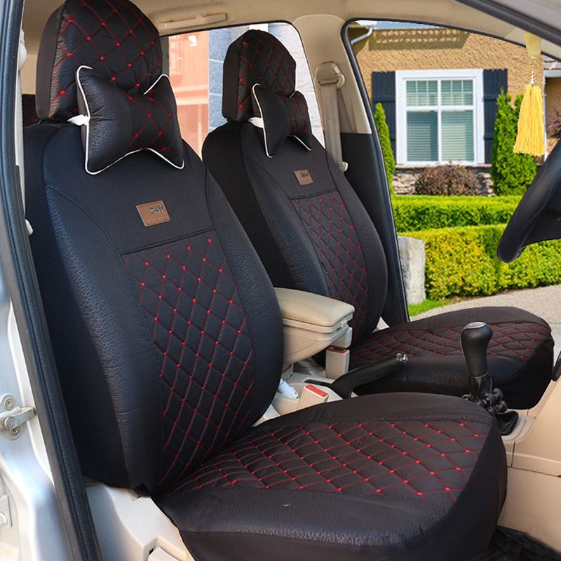 High Quality Car Seat Covers For Buick All Models Enclave Encore Envision Car Black Gray Red Beige Car Accessories Carseat Cover Car Seats Interior Accessories