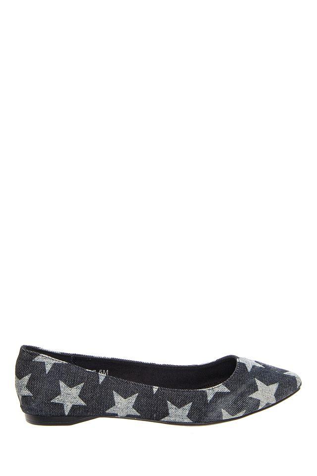 Matisse - Justice Flat Shoe - Black Stars at DNA Footwear