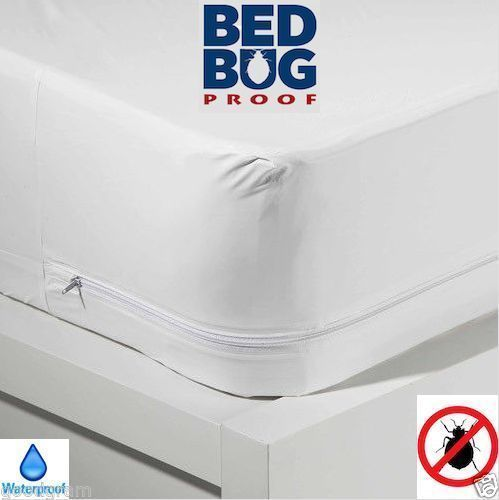 Bed Bug Allergy Relief Waterproof Zippered Vinyl Mattress Cover Protector 4 Size Products Mattress Covers Mattress Pad King Size Mattress