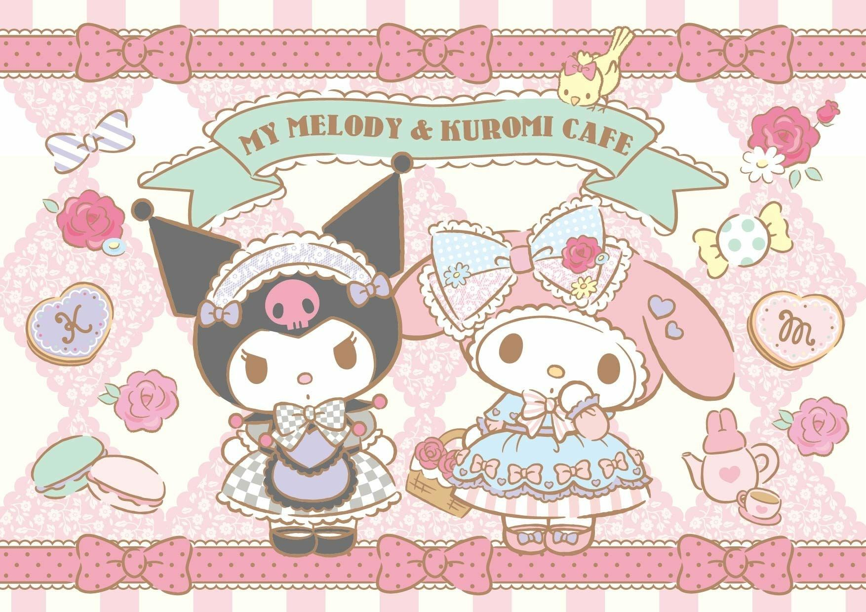 My Melody & Kuromi Cafe | My melody, Hello kitty wallpaper ...
