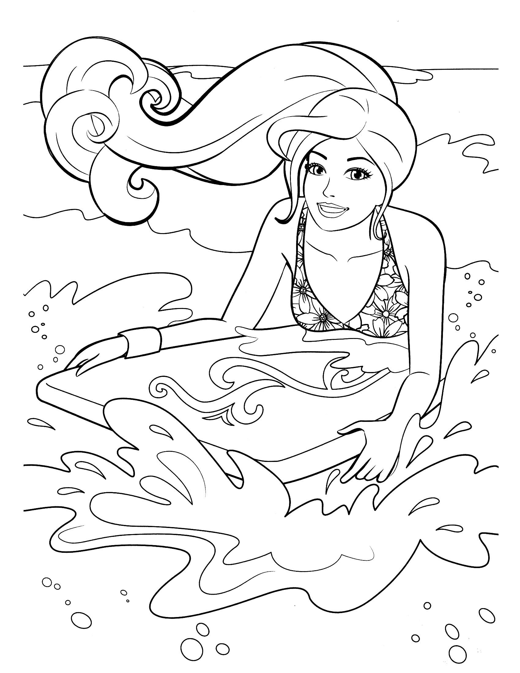 Barbie Coloring Pages - Bing Images | color time barbie | Pinterest ...