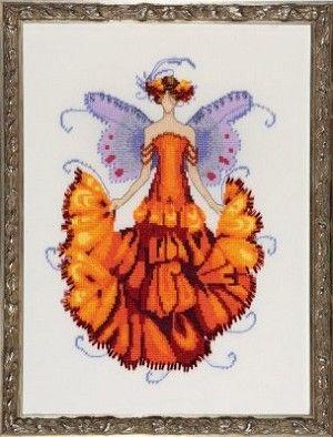 Marigold Counted Cross Stitch Pattern #crossstitch #fairy #pixie #pixie_blossom #flowerfairy #marigold #pattern #cross_stitch #diy #fantasy #needlework #needlecraft #fairies #pixies