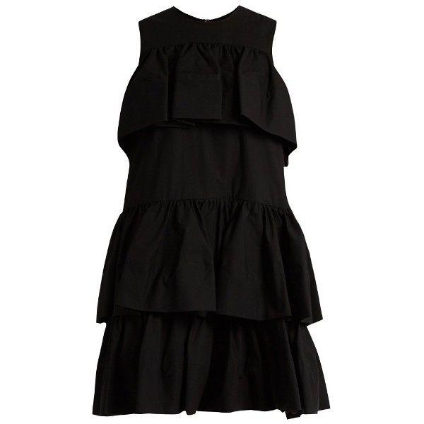 Tiered-ruffle cotton-poplin dress Msgm RLuThyV