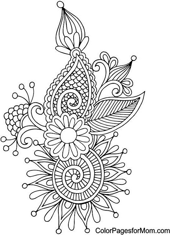 Abstract doodle zentangle coloring pages colouring adult detailed advanced printable kleuren - Mandala adulte ...