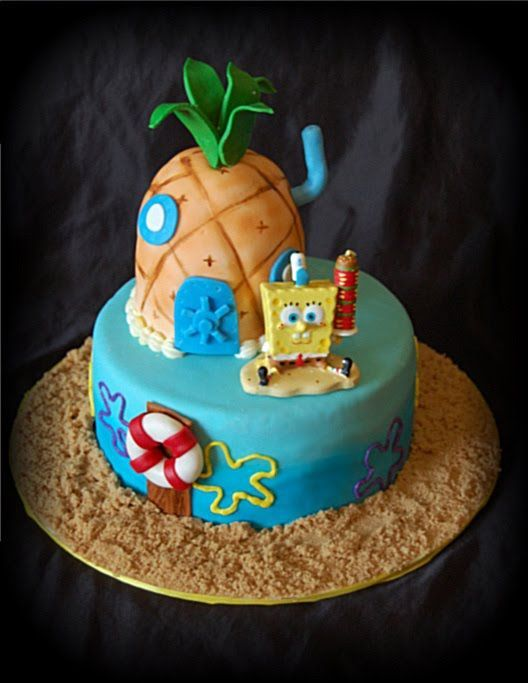 Image detail for SpongeBob cake I made for my Daughters 8th