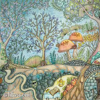 Coloured Pencils Fortune Telling Adult Coloring Books Prismacolor Johanna Basford Pencil Drawings Zodiac Art Ideas