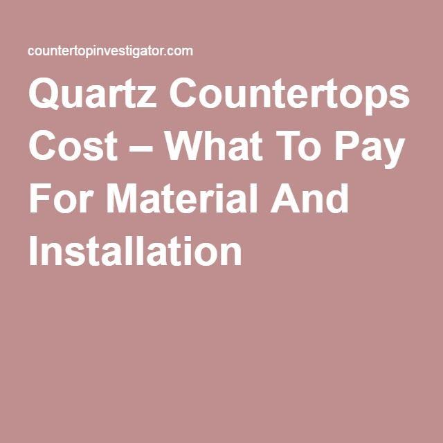 Die Besten 25+ Quartz Countertops Cost Ideen Auf Pinterest |  Küchen Arbeitsplatten, Küchentheken Und Arbeitsflächen