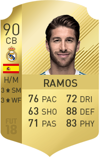 Sergio Ramos in FIFA 18