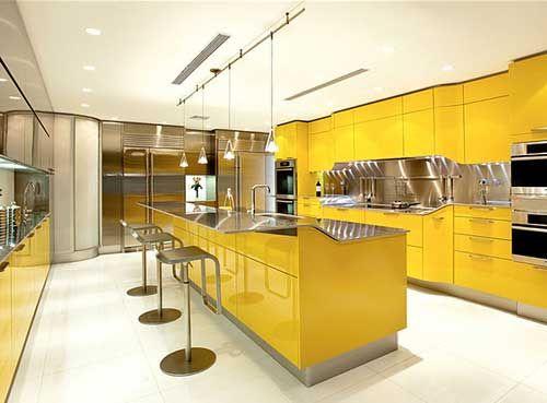 Luminous Interior Design Ideas And Shining Yellow Color Schemes Kitchen Inspiration Design Modern Kitchen Design Yellow Kitchen Interior